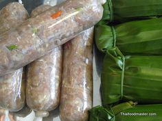 Making Fermented Thai Pork Sausage | 1kg Pork lean Meat, Minced 350 gr Pork Skin 25 cloves Garlic 2 1/2 tbs Sea salt 1/2 tbs Sugar 1 tsp Monosodium Glutamate 1 Cup Cooked sticky rice (gelatinous rice) 40 bird's eye chilies