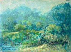 """Paisaje"" - óleo sobre tela, 1996. Obra del pintor venezolano Gregorio Camacho"