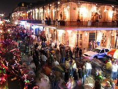 Bourbon street for Mardi Gras...one day I will finally be allowed to go!