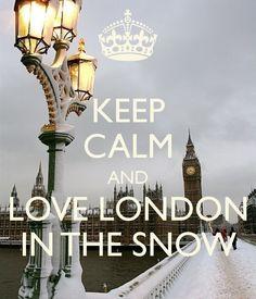 London, Snow, Westminster Bridge