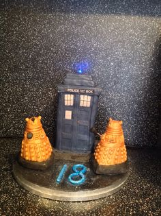 My tardis cake....after using the inspiration from pin interest....https://www.flickr.com/photos/chloes-cakes/