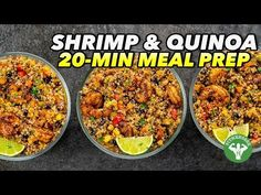 You GOTTA try this bangin' southwest shrimp & quinoa mix meal prep - only takes 20 minutes to prepare! Get the recipe, macros and ingredient links from Kroge. Quinoa Mix, Low Calorie Salad, Shrimp And Quinoa, Fitness Meal Prep, Cooking Recipes, Healthy Recipes, Healthy Dishes, Cooking Time, Healthy Meals