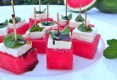 Watermeloen en feta appetizer