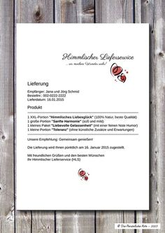 Druck/Print:+Himmlischer+Lieferservice+(Hochzeit)+von+Die+Persönliche+Note+auf+DaWanda.com