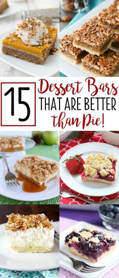 Not only are dessert bars as delicious as pie, but they serve way more people! (Hello 24 squares!) And with a slightly smaller portion, there's room to try a few more desserts for Thanksgiving or Christmas!