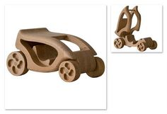 Handcrafted wooden Panther race car, natural, organic wooden toys for kids. $38.00, via Etsy.