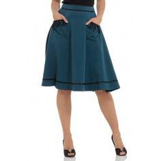 Sarah Teal Midi Skirt