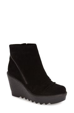 Vince Camuto 'Dasan' Platform Wedge Bootie (Women) at Nordstrom.com. A razor-lugged platform sole and decorative zip detail add bold, urban twists to a dynamic ankle bootie shaped from gently pleated suede.