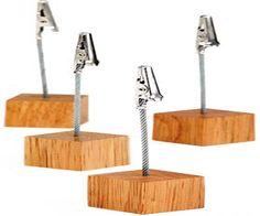 Kartenhalter, 4er Set Holz