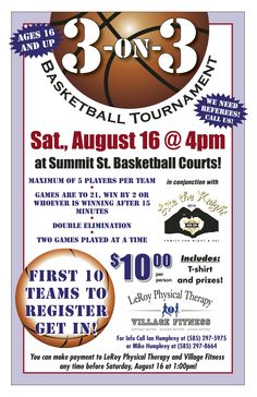 7 best basketball flyer images on pinterest basketball brochures register for our 3 on 3 basketball tournament this goes along with our lite the maxwellsz