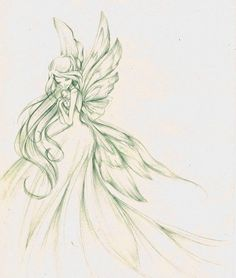 Flora Winx Club - beautiful sketch!