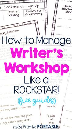 Love these Writer's Workshop tips!  My students are writing better and I can easily lead writing conferences.