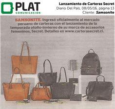 Samsonite: Lanzamiento de Carteras Secret en el diario Correo de Perú (08/05/16)