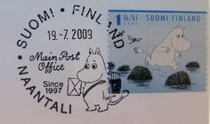 Official post office stamp of the Moomin world in Naantali, Finland Moomin Valley, Tove Jansson, Yesterday And Today, Character Development, Mail Art, New Girl, Postage Stamps, We Heart It, Winwin