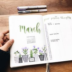 Here are 27 best March bullet journal monthly cover page ideas to get your bujo ready for spring. Bullet Journal Reading Log, March Bullet Journal, Bullet Journal Monthly Spread, Bullet Journal Ideas Pages, Bullet Journal Inspo, Bullet Journal Layout, Bullet Journals, Journal Inspiration, Freetime Activities