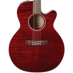 Buy Takamine G-Series EG440C NEX Flametop Acoustic Electric Guitar Red EG440C-STRY at ZoZoMusic.com