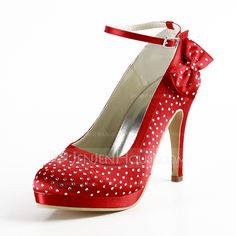 Wedding Shoes - $87.99 - Women's Satin Cone Heel Closed Toe Platform Pumps With Bowknot Buckle Rhinestone (047016466) http://jenjenhouse.com/women-s-satin-cone-heel-closed-toe-platform-pumps-with-bowknot-buckle-rhinestone-047016466-g16466?la=email_newsletter_20140513_en_en&utm_source=NewsLetter&utm_campaign=NewsLetter_20140513_en_en