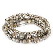 Nature Bracelet Materials: Swarovski crystals, iron pyrite and antique rhodium plated. Swarovski Crystals, Beaded Bracelets, Bling, Jewels, Beads, Antiques, Diy Jewelry, Nature, Iron