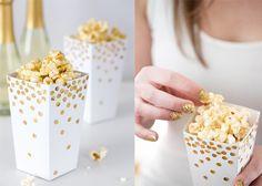 Goldene Popcorn-Schachtel | DIY LOVE