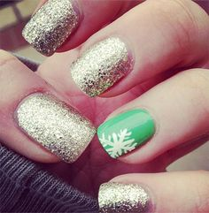 Easy & Simple Winter Nail Art 2013/ 2014 For Beginners & Learners