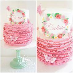 Butterfly & Pink Ruffles