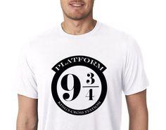 Platform 9 3/4 Platform Nine and Three Quarters Harry Potter Men's Crew Neck T-Shirt / Disney Vacation / Universal Studios Vacation by DesignITSouth on Etsy https://www.etsy.com/listing/470151605/platform-9-34-platform-nine-and-three