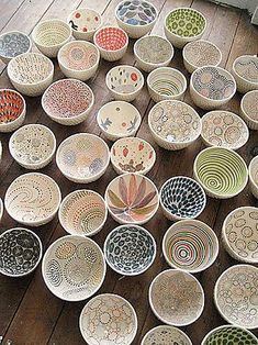 ceramic bowls by aida dirse of lithuania