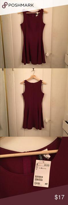 H&M Sleeveless Skater Dress Size 6 NWOT, Back zipper H&M Dresses Mini
