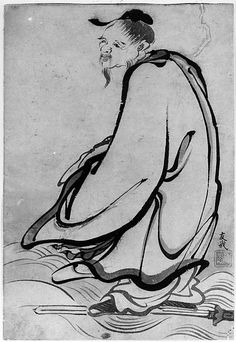 Sage  School of Katsushika Hokusai  (Japanese, 1760–1849)  Date: 18th–19th century Culture: Japan Medium: Ink on paper