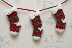 Ravelry: Prancer Stocking Bunting pattern by Crystalized Designs