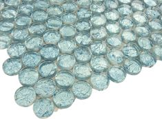 Light Blue Glass Tile | Glass Penny Round Tile