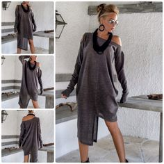 NEW Warm Winter Asymmetric Tunic by SynthiaCouture