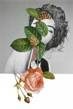 Rocío Montoya is a talented photographer, graphic designer and editor from Spain with a love for handmade collages and experimental photography. More collages via Inspiration… Collage Foto, Nature Collage, Collage Portrait, Surreal Collage, Mixed Media Collage, Portraits, Kunst Inspo, Art Inspo, Art And Illustration