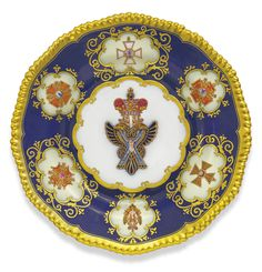 A Porcelain Plate from the Tsar Nicholas I Service, Imperial Porcelain Manufactory, Period of Nicholas I (1825-1855) - Sotheby's