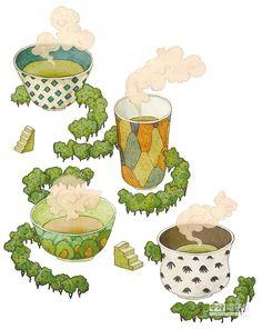 tea 插畫