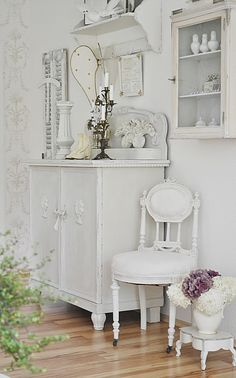 Pretty white pieces of furniture. . .by justys