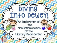 """Diving into Dewey! Explore the Nonfiction Section of the Library! This is a simple but effective way to introduce your students to the nonfiction (or """"Dewey"""") section of your library media center. No technology needed, except for a pencil! School Library Lessons, Library Lesson Plans, Elementary School Library, Library Skills, Elementary Schools, Library Organization, Library Ideas, Library Orientation, Library Activities"""
