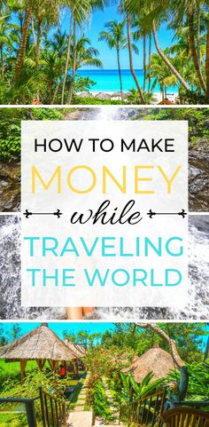 Looking to ways to make money while traveling the world? I've got you, friend! In this guide I teach you 3 easy ways to make money on the side while t Budget Travel, Travel Tips, Travel Hacks, Travel Money, Travel Packing, Usa Travel, Solo Travel, Time Travel, Travel Ideas
