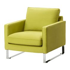 MELLBY Capa de poltrona - Dansbo verde amarelado - IKEA