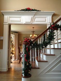 Holiday foyer and dining room.