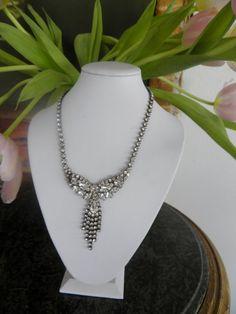 Vintage Rhinestone Royal Necklace by veryfrenchbydesign on Etsy, $165.00