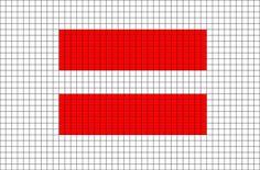 Flag of Latvia Pixel Art