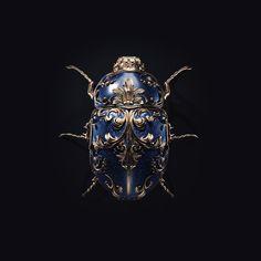 Jewel insects, jewelry design by Sasha Vinogradova - Ego - AlterEgo Insect Jewelry, Jewelry Art, Antique Jewelry, Beaded Jewelry, Fashion Jewelry, Jewelry Design, Silver Jewelry, Fine Jewelry, Carapace
