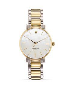 Kate Spade Gramercy Bracelet Watch (Two Tone)