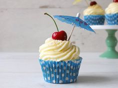 Bring a taste of the Caribbean to your table with this cupcake recipe, inspired by the Piña Colada cocktail, flavoured with pineapple, lime & coconut.