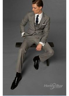 3 piece slim-fit suit