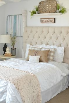 This pair of old vintage crib frames are the perfect addition to this cozy guest bedroom. The bedroom is full of farmhouse decor ideas and inspiration.