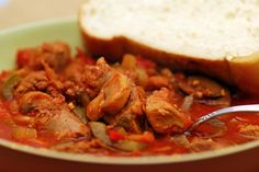 Mushroom Stew (Italian version) by Taste of Utica Cook Book. No matter what version you make, always serve it with fresh Italian bread! Ny Food, New York Food, Slow Cooker Recipes, Crockpot Recipes, Cooking Recipes, New York Eats, Mushroom Stew, Pork Stew, Stuffed Mushrooms
