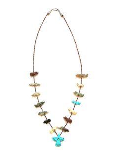 Vintage Native American Fetish Necklace