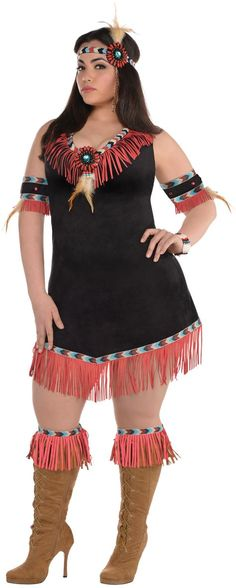 Adult Rising Sun Native American Princess Costume Plus Size - Party City  Plus Size Model: Nicole Zepeda, Agency: MSA Models (CURVE Division), Agent: Susan Georget